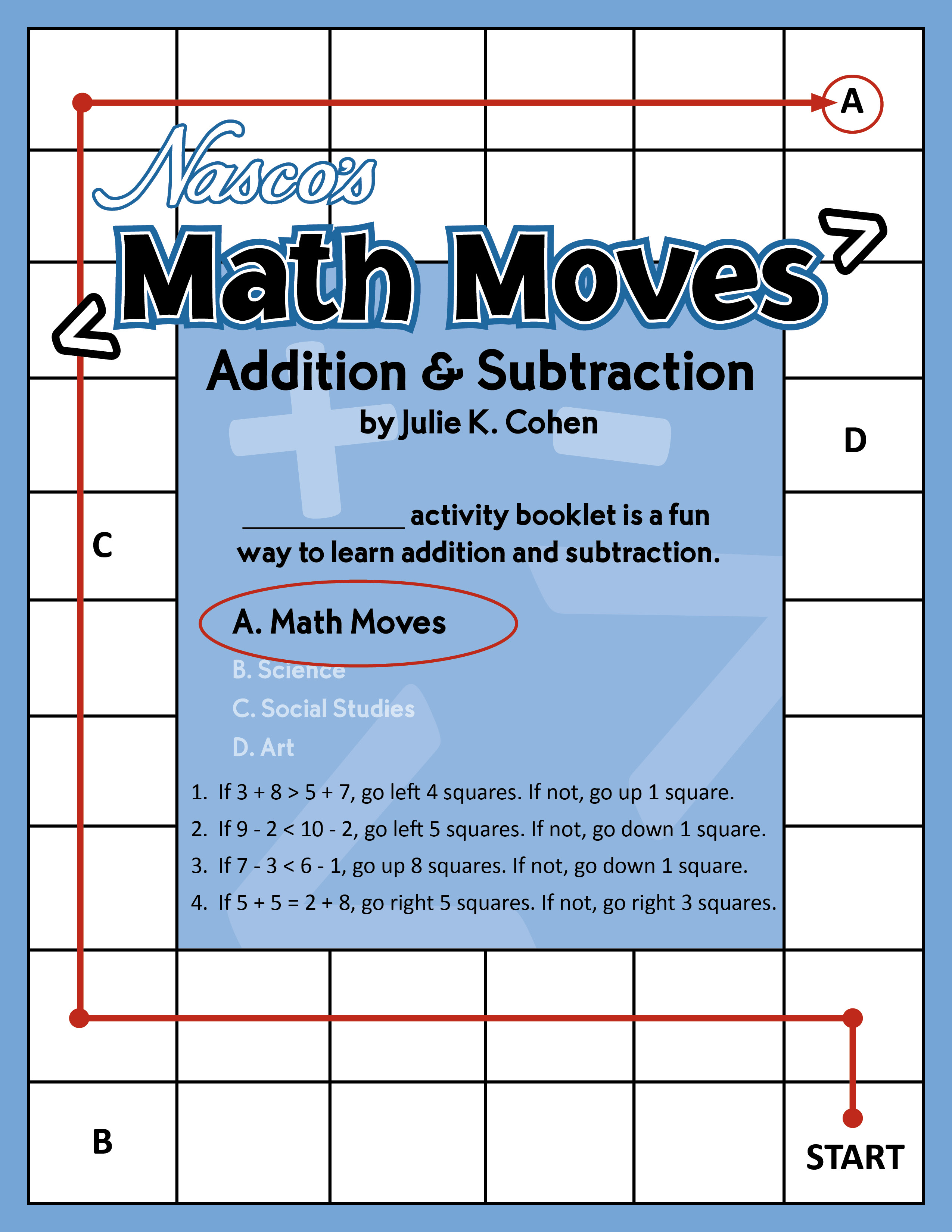 Julie K. Cohen - Math Moves Addition & Subtraction Math Puzzle Book